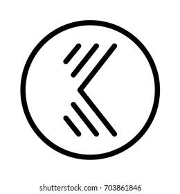 Minimalist Elegant Line K Letter Logo Icon Emblem Monogram