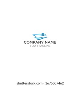 minimalist flat monogram ship logo