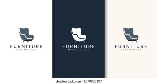 minimalist furniture logo design style