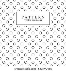 Minimalist geometric seamless pattern with circles.