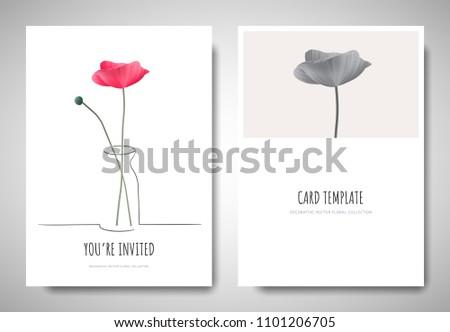 minimalist greetinginvitation card template design pink stock vector