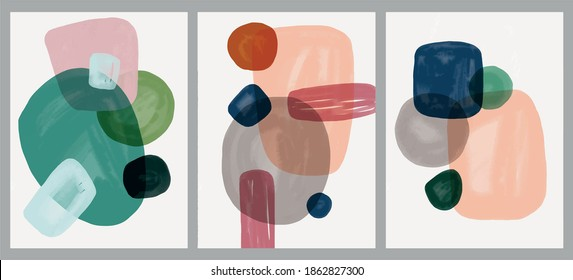 Minimalist hand paint abstract art background with watercolor spot. Brush painting is a textural decoration with an artistic acrylic design of a poster, banner, or interior painting.