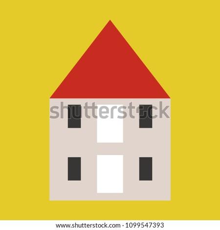 minimalist house icon scandinavian style cute stock vector royalty rh shutterstock com