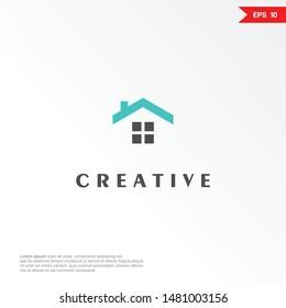 minimalist house logo or icon. eps 10