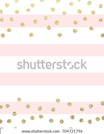 04a89b1014b Minimalist invitation design with gold glitter circles and pink stripes. -  Vector
