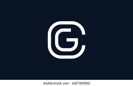 Minimalist line art Letter CG logo. This logo icon incorporate with C and G in the creative way.
