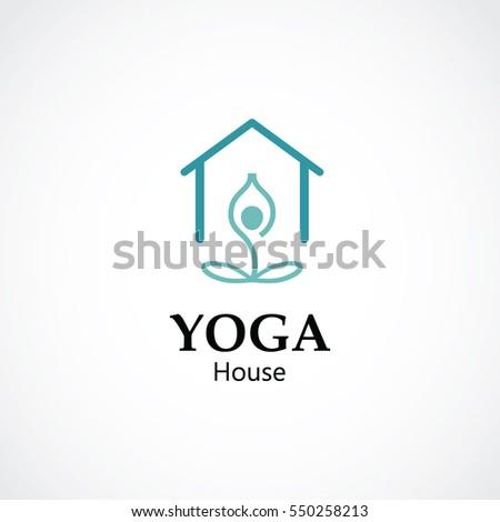 Minimalist Logo Yoga Spa Business Concept Stock Vector Royalty Free