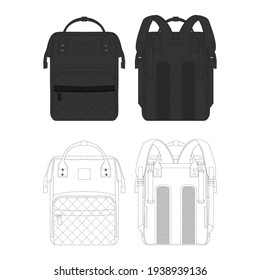Minimalist and Modern Backpack V3 for Commercial use