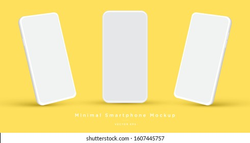Minimalist modern clay mockup smartphones for presentation, application display, information graphics etc. Vector EPS.