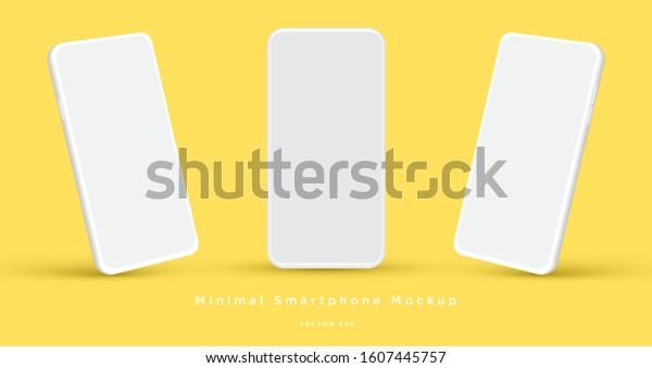 Minimalist modern clay mockup smartphones for presentation, application display, information graphics etc. Vector EPS.
