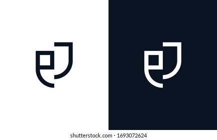 Minimalist modern elegant line art letter EJ logo. This logo icon incorporate with letter E and J in the creative way.