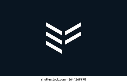 Minimalist modern line art letter EF logo. This logo icon incorporate with two letter E and F in the creative way.