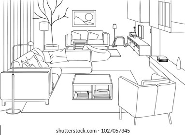 Minimalist and Modern Living Room