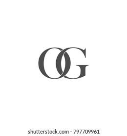 minimalist modern OG letter logo vector