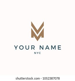 Minimalist Modern VM Logo Luxury Calm Color