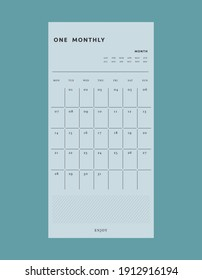minimalist planners (Ocean Blue). Retro planner Bullet journal memo pad. Clear and simple printable to do list. Realistic vector illustration.
