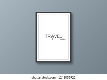 Minimalist poster to the wall with a plane: Travel more