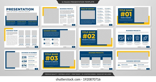 minimalist presentation template with clean style use for business annual report and infographic