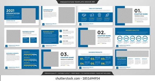 minimalist presentation template layout with clean style and minimalist layout use for annual report and business proposal
