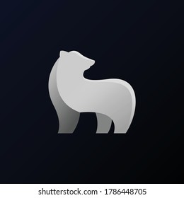 Minimalist and professional polar bear logo design