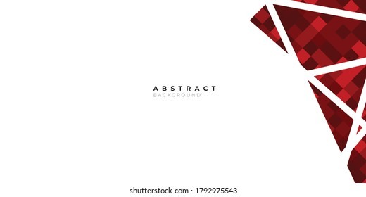Minimalist red maroon and white abstract geometric background vector design for banner, presentation, corporate cover template and much more