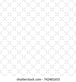 Minimalist seamless pattern with small crosses, simple floral shapes. Abstract geometric texture in soft pastel colors, white, beige. Subtle repeat background. Light elegant design for decor, prints