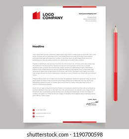 minimalist simple letterhead template mock up