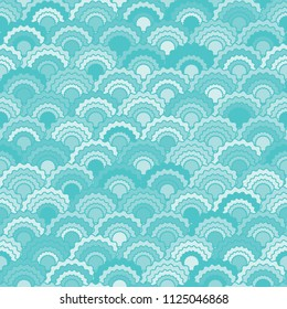 Minimalist snake skin scales squama background, vector seamless fabric pattern, tiled textile print. Traditional chinese squama scales seamless arc tiles structure. Iguana skin pattern.