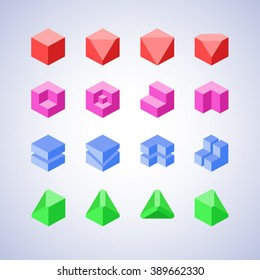 Minimalist style geometric logo or icon template