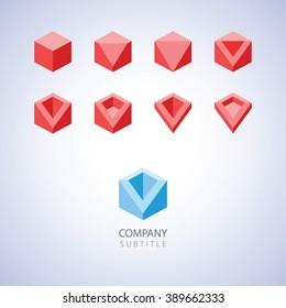 Minimalist style geometric logo template
