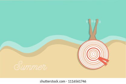 minimalist summer design, with the colors of the trend, for decoration, printing etc.