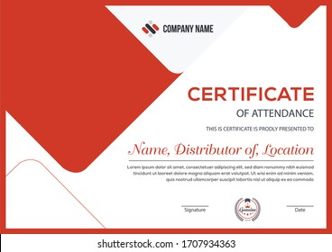 minimalist trendy modern certificate for corporate companies and all types business and other sectors