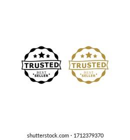 Minimalist Trusted Seller Stamp Logo Design