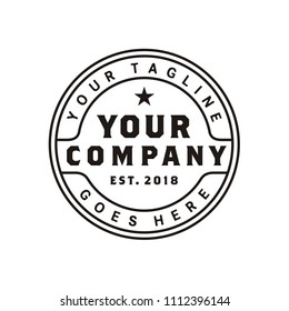Minimalist Vintage Stamp Logo design inspiration