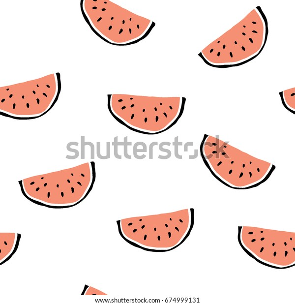 minimalist watermelon slice seamless pattern 600w 674999131
