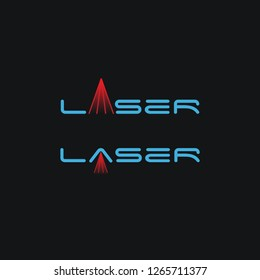 minimalist word Mark logo inspiration of laser on letter a