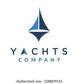 Minimalist Yachts Design Logo Inspiration