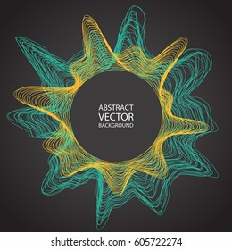 Minimalistic abstract line background vector illustration for album music or other cover. Design element of lines with same random and noise.
