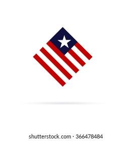 american flag logo images stock photos vectors shutterstock rh shutterstock com american flag logo clip art american flag logo golf balls