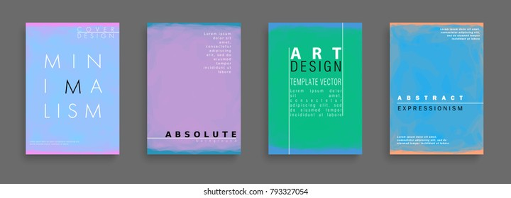 Minimalistic art. Cover design. Abstract painting style. Colorful background geometric patterns. Vector template brochures, flyers, presentations, leaflet, magazine a4 size