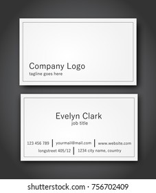 Minimalistic business card template vector