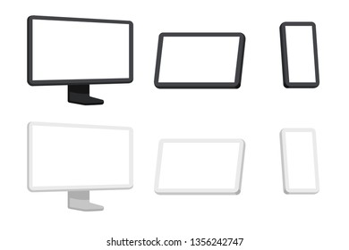 Minimalistic Devices - Desktop, Tablet and Phone