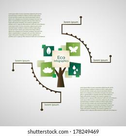 Minimalistic eco infographics. EPS 10 flie.