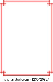Minimalistic frame for a post card, based on slavic ornaments.
