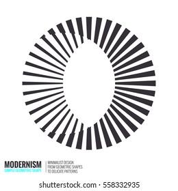 Minimalistic geometric design for logo. Simple figure, form in black white color