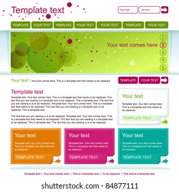 minimalistic green web page layout design
