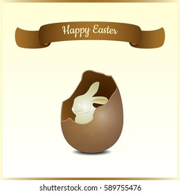 Minimalistic greeting and gift card for Easter