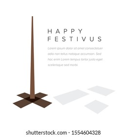Minimalistic Happy festivus card template layout