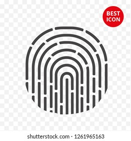 Minimalistic ID icon concept. Isolated personal id icon. For personal card mobile application web site security system enter key personal data. Vector illustration. Flat design concept. Hand draw.