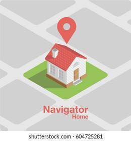 Minimalistic illustration on the theme of navigation